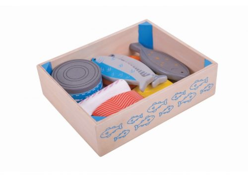 Bigjigs Toys Wooden Seafood Crate