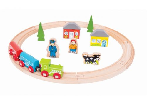 Bigjigs Rail Wooden My First Train Set