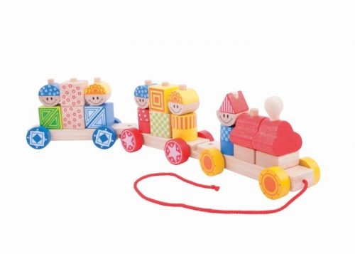 Bigjigs Baby Wooden Build Up Train