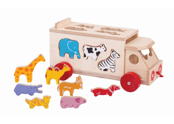Bigjigs Toys Animal Shape Sorting Lorry