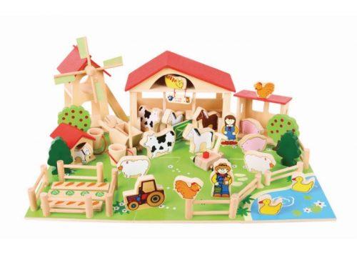 Bigjigs Toys Wooden Play Farm