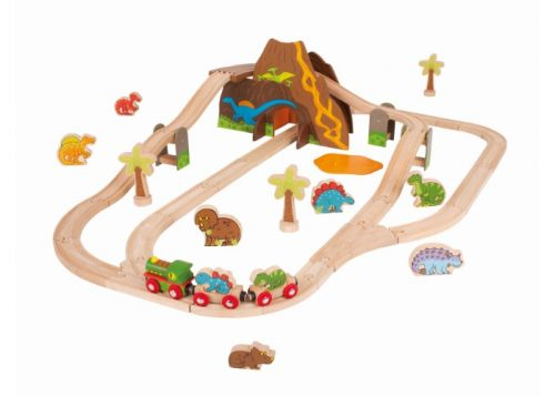 Bigjigs Rail Wooden Dinosaur Train Set