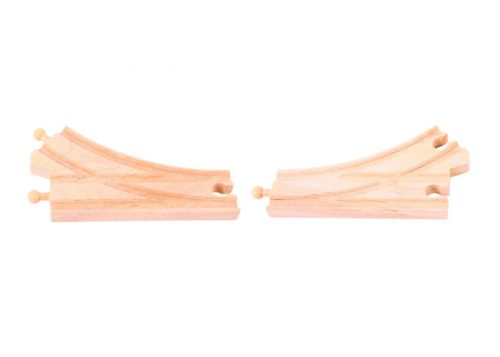 Bigjigs Rail Wooden Track Curved Points 2 Pack