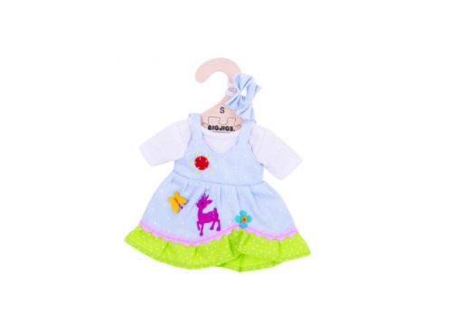 Bigjigs Toys Blue Spotted Dress with Deer