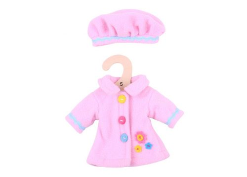 Bigjigs Toys Pink Hat and Coat for 28cm Dolls