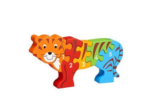 Lanka Kade Fair Trade Wooden Tiger 1-5 Jigsaw