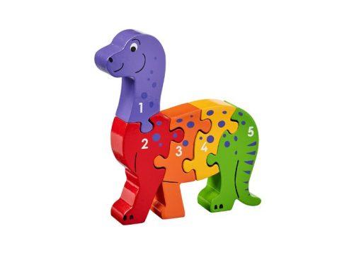 Lanka Kade Fair Trade Wooden Dinosaur 1-5 Jigsaw
