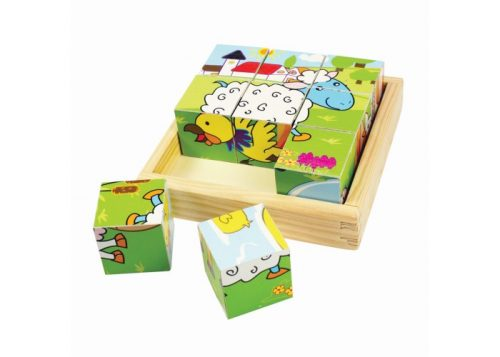 Bigjigs Toys Animal Cube Puzzle