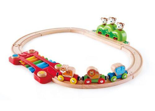 Hape Music and Monkeys Railway Set