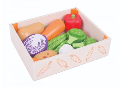 Bigjigs Toys Wooden Vegetables Crate