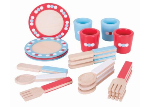 Bigjigs Toys Wooden Dinner Service