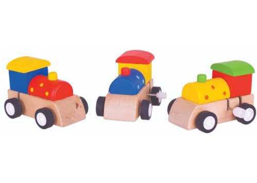 Bigjigs Toys Wooden Clockwork Train