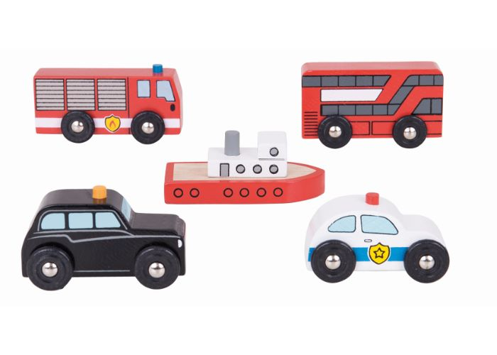 Bigjigs Rail Wooden City Vehicles