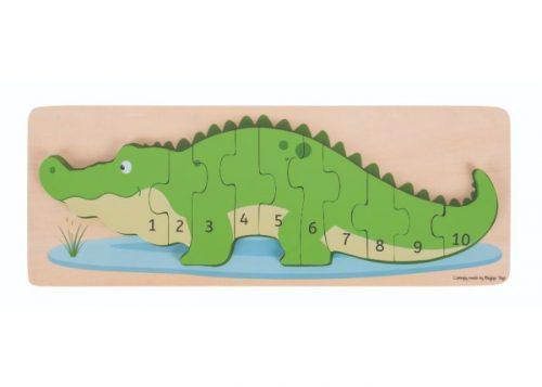 Bigjigs Toys Crocodile Number Puzzle
