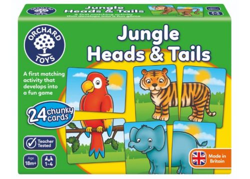 Orchard Toys Jungle Heads & Tails Fun Learning Game