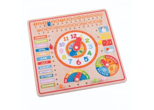 Bigjigs Toys Wooden Calendar and Clock