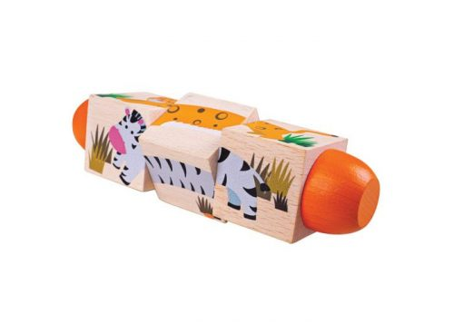 Bigjigs Toys Wooden Jungle Twist Blocks