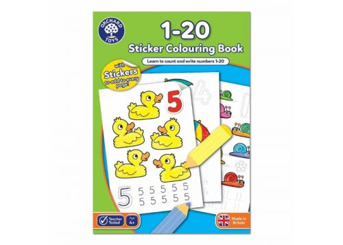 Orchard Toys 1-20 Sticker Colouring Book