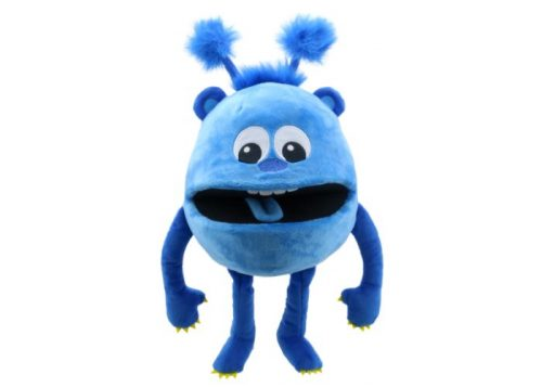 Blue Baby Monster Hand Puppet
