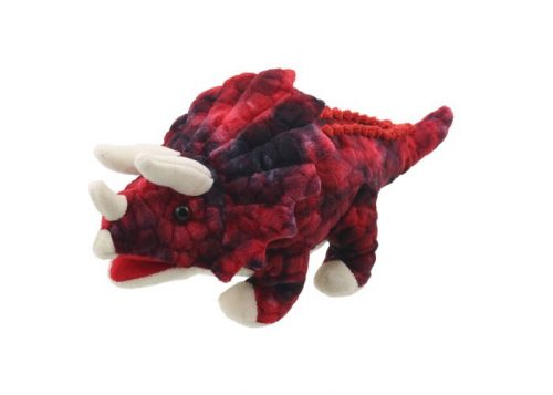 Baby Dinos Red Triceratops Hand Puppet
