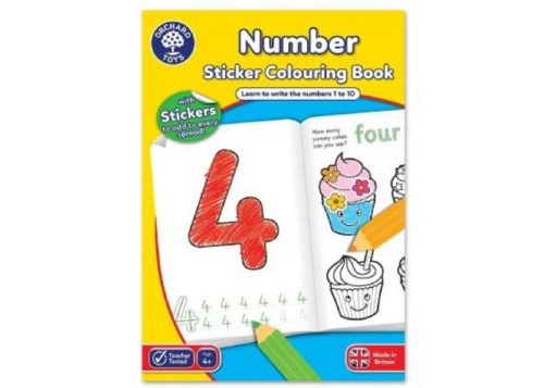 Orchard Toys Number Sticker Colouring Book