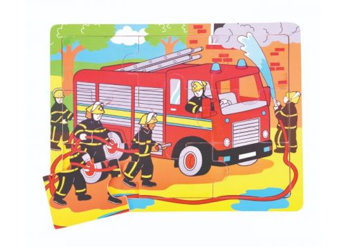 Bigjigs Toys Tray Puzzle Fire Engine