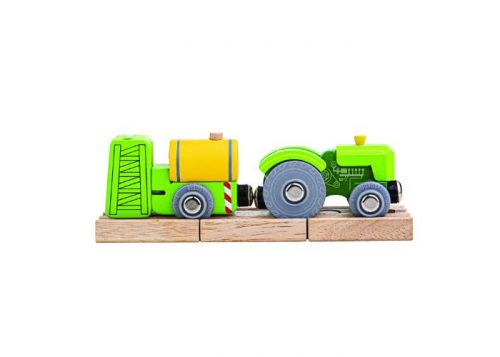 Bigjigs Rail Wooden Tractor and Crop Sprayer