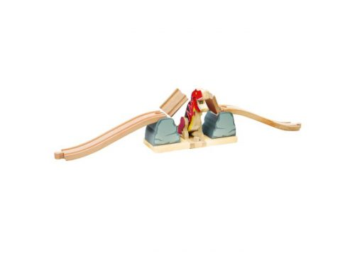 Bigjigs Rail Wooden T-Rex Bursting Bridge