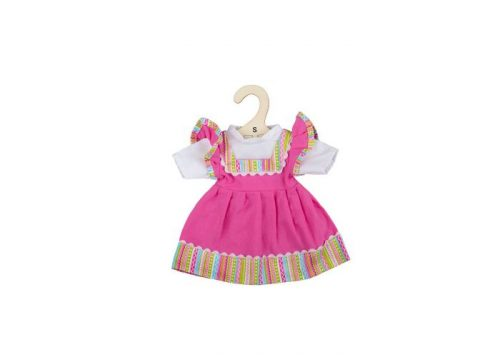 Bigjigs Toys Pink Dress with Striped Trim for 28cm Dolls
