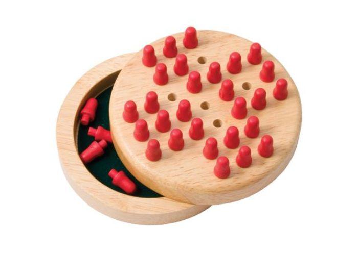 Bigjigs Toys Wooden Mini Solitaire Set