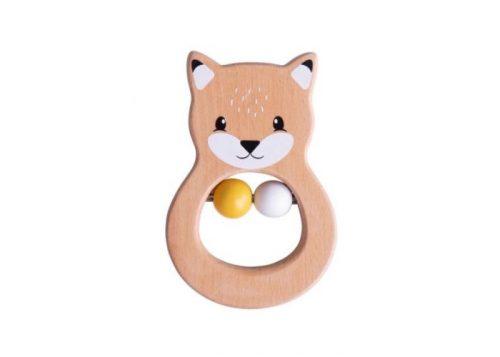 Bigjigs Toys 100% FSC®Certified Fox Rattle