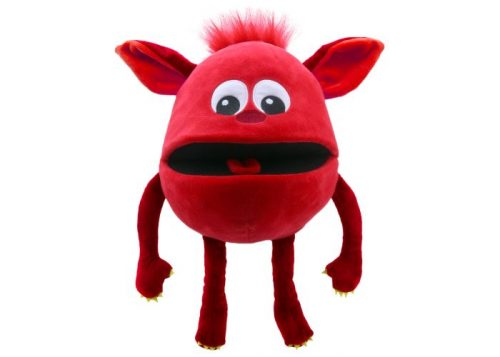 Red Baby Monster Hand Puppet