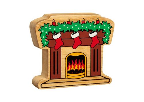 Lanka Kade Natural Colourful Fireplace with Stockings