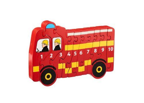 Lanka Kade Fair Trade Fire Engine 1-10 Puzzle