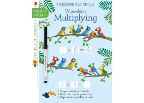 Usborne Key Skills Wipe-Clean Multiplying 6-7 years