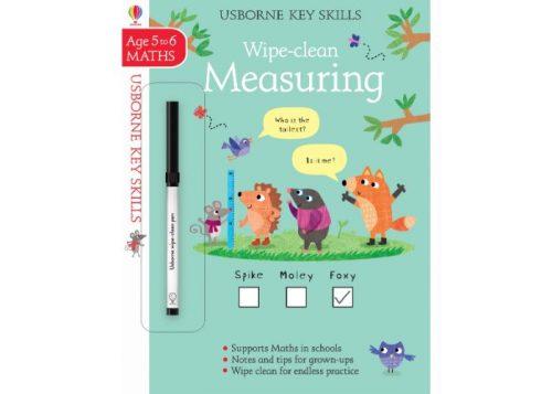 Usborne Key Skills Wipe-Clean Measuring 5-6 years