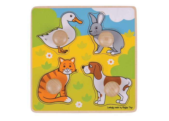 Bigjigs Toys My First Peg Puzzle Pets