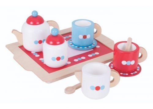 Bigjigs Toys Wooden Tea Set on a Tray