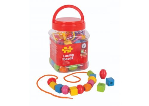 Bigjigs Toys Wooden Lacing Beads