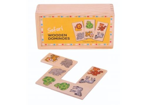 Bigjigs Toys Wooden Safari Dominoes