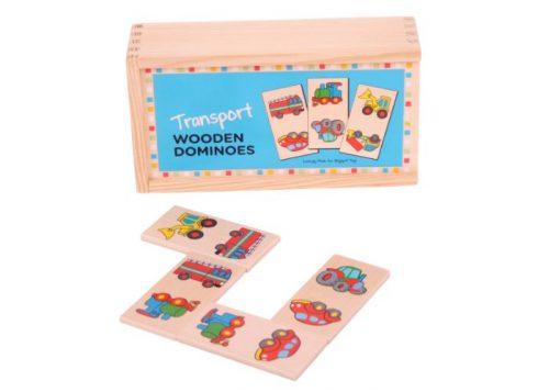 Bigjigs Toys Wooden Transport Dominoes