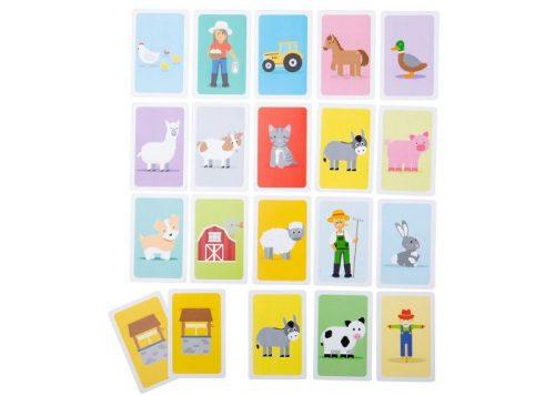 Bigjigs Toys Farmyard Donkey Pairs Card Game