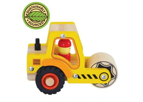House of Marbles Wooden Road-Roller Vehicle