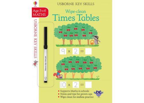 Usborne Key Skills Wipe-Clean Times Tables 5-6 years