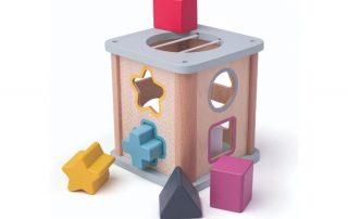 Eco friendly wooden shape sorter
