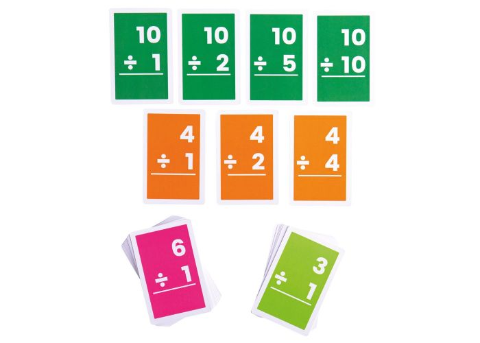 Bigjigs Toys 1-10 Divisions Flashcards