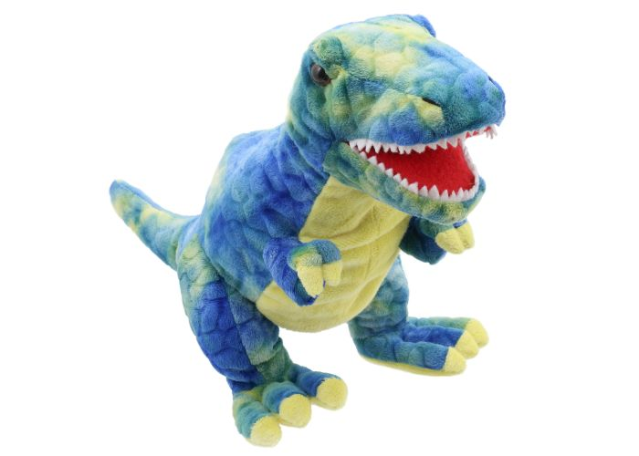 Baby Dinos Blue T-Rex Hand Puppet