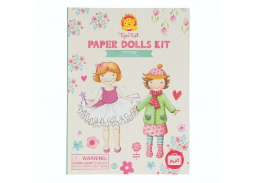 Tiger Tribe Paper Dolls Kit Vintage