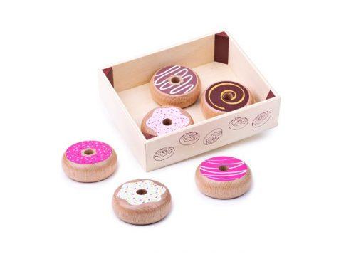 Bigjigs Toys Wooden Doughnut Crate
