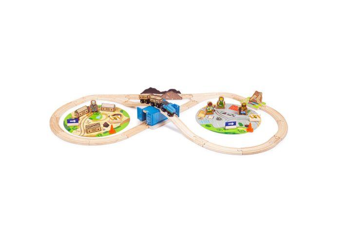 Bigjigs Rail Wooden Construction Train Set